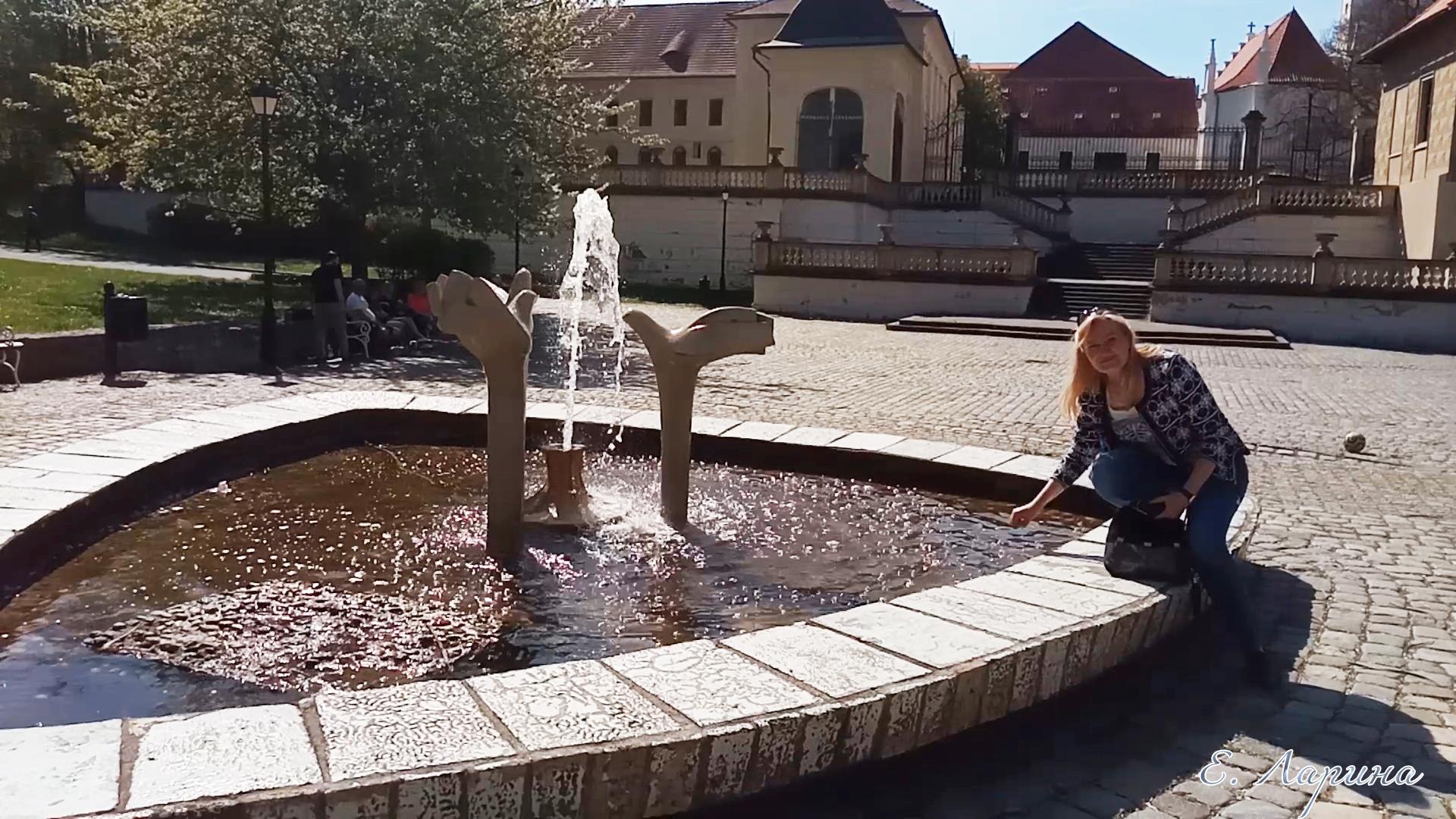 Теплице, фонтан